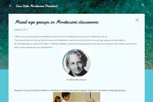 Mixed age groups in Montessori classrooms